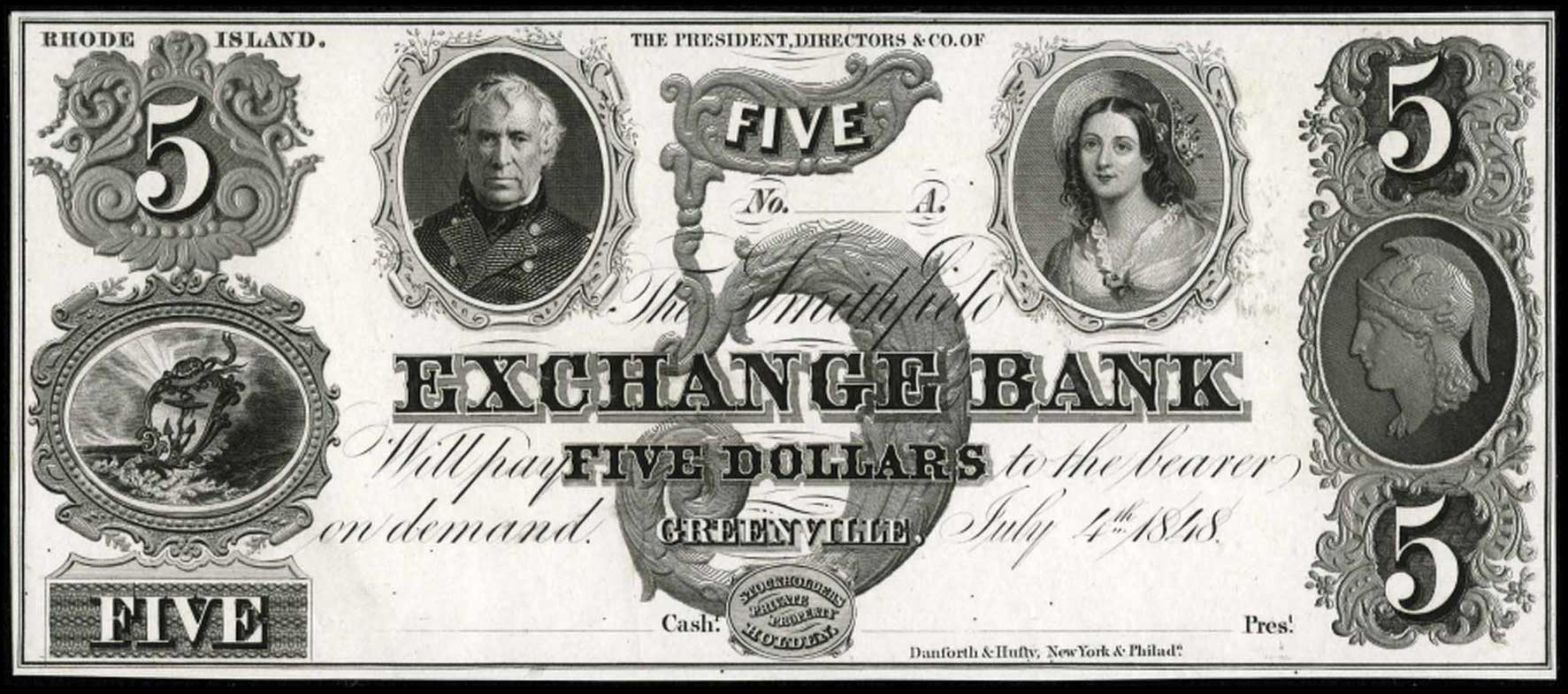 Smithfield Exchange Bank $5 note