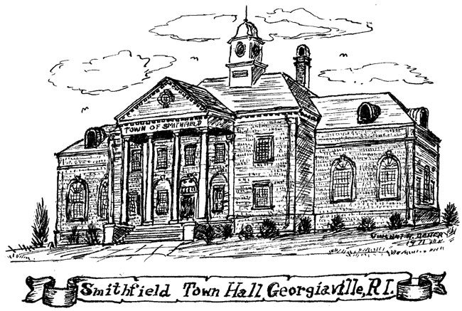 Smithfield Town Hall Sketch 1971